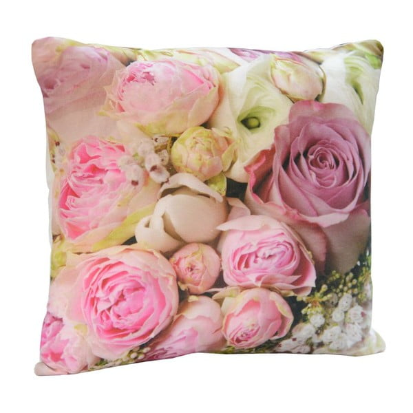 Polštář Pink Flowers, 45x45 cm
