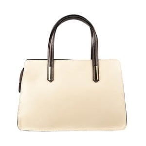 Krémovo-hnědá kožená kabelka Matilde Costa Tambo
