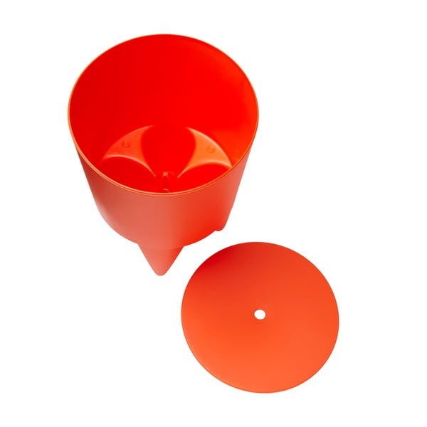 Univerzální stolek/koš/chladič na led Bubu, oranžový