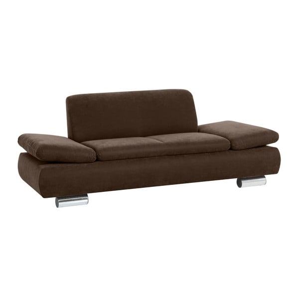 Canapea cu 2 locuri Max Winzer Terrence Anderson, cotiere ajustabile, maro închis