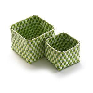 Sada 2 zelených košíků Versa Baskets Small