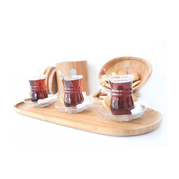 Bambusový podnos na servírování kávy Bambum Latte