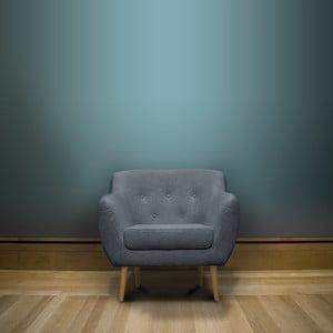 Světle modré křeslo se světlými nohami Mazzini Sofas Sicile
