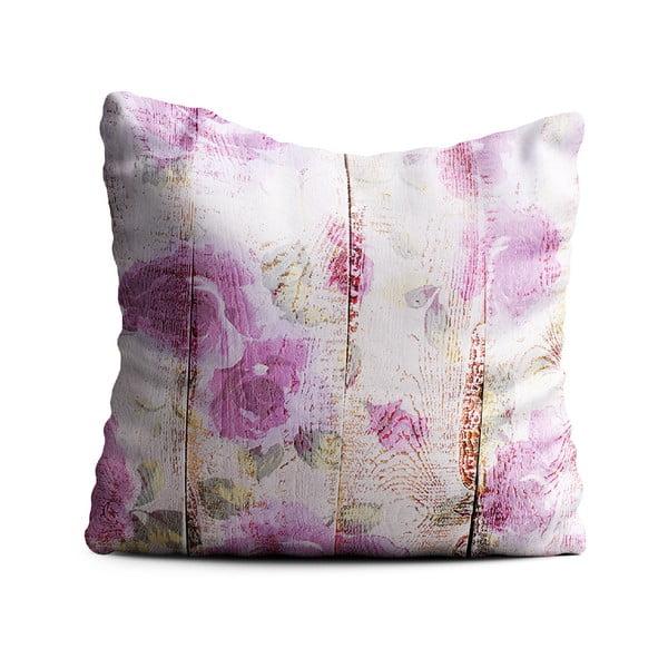 Růžový polštář Oyo home Romantic, 40x40cm