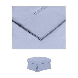 Modrý povlak na podnožku THE CLASSIC LIVING Jean