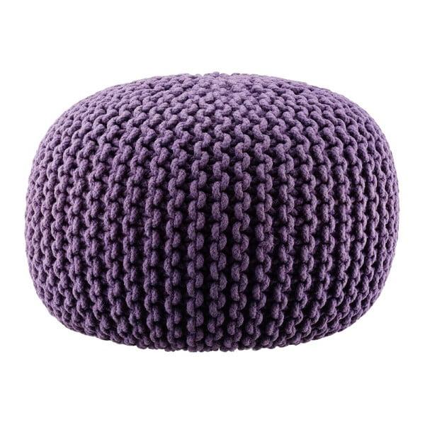 Pletený puf Lob, fialový