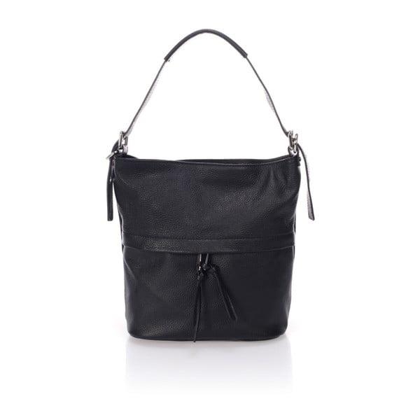 Černá kožená kabelka Giorgio Costa Ravena