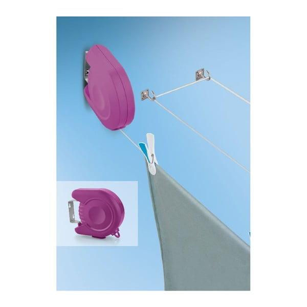 Fialová zatahovací šňůra na prádlo Bonita Delight