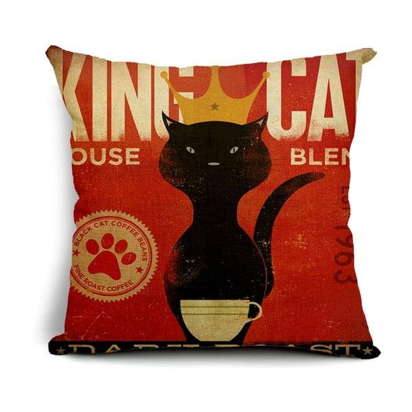 Povlak na polštář King Cat, 45x45 cm