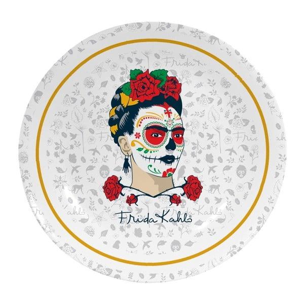 Nástěnný dekorativní keramický talíř Madre Selva Frida Sugar Skull