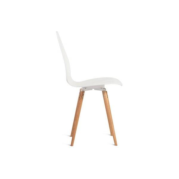 Bílá židle Charlie Pommier Egg