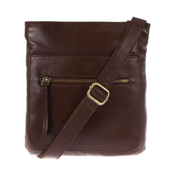Dámská kožená taška Azaria Cognac Cross-Body