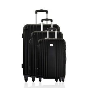 Sada 3 cestovních zavazadel Valises Avec Black