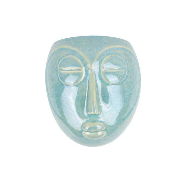 Zelený nástenný kvetináč PT LIVING Mask, 16,5 x 17,5 cm