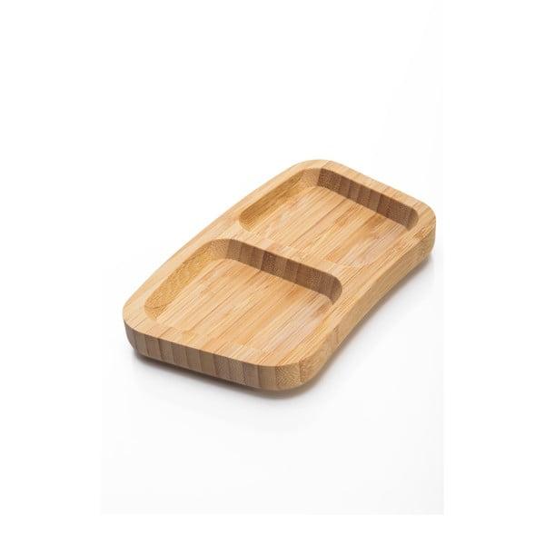 Bol servire din bambus Bambum Piazza, 17,5 cm