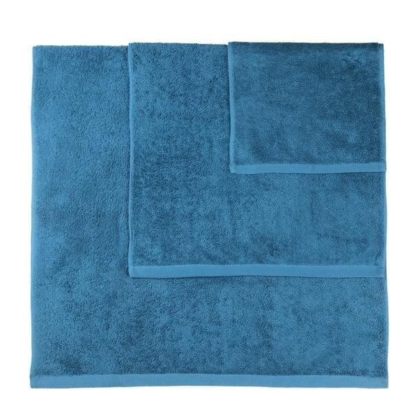 Set 3 prosoape Artex Alfa, albastru petrol