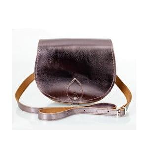 Kožená kabelka Saddle 29 cm, cínová