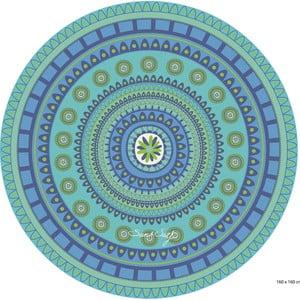 Modrá plážová deka Sun & Surf Mandala Flor