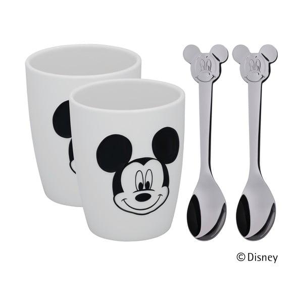 Set 2 pahare și 2 lingurițe WMF Mickey Mouse