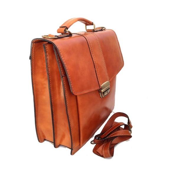 Kožený kufřík Barolo, medový