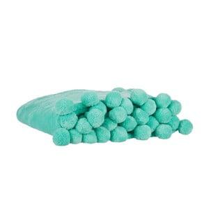 Pléd Pom-Pom Mint, 130x170 cm
