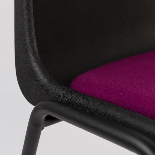 Židle Back to Gym, černá/fialová