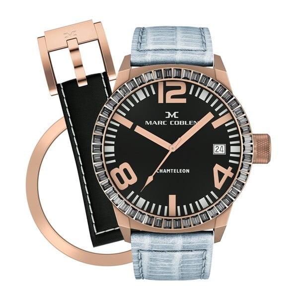Dámské hodinky Marc Coblen s páskem a kroužkem navíc P85