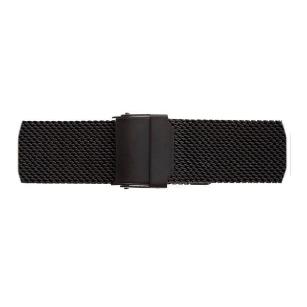 Dámské hodinky s páskem v černé barvě z nerezové oceli Frederic Graff Lizzo