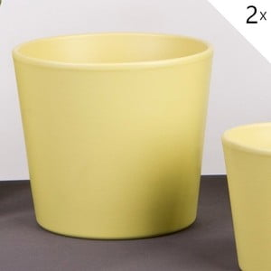 Sada 2 zelených květináčů Matt, 17 cm