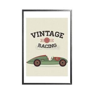 Zarámovaný plakát Racing Cars, černý rám