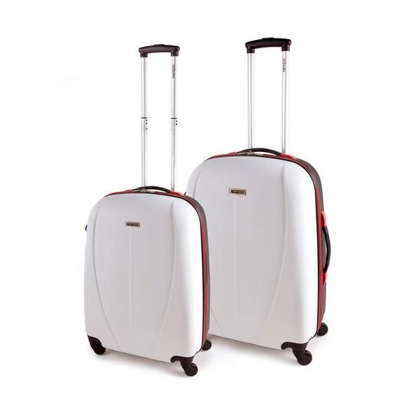 Sada 2 kufrů Tempo, bílá