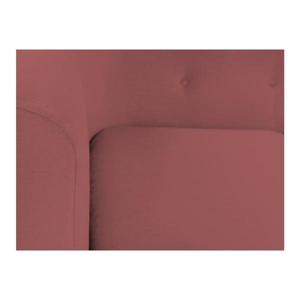 Růžovočervené křeslo Kooko Home Love