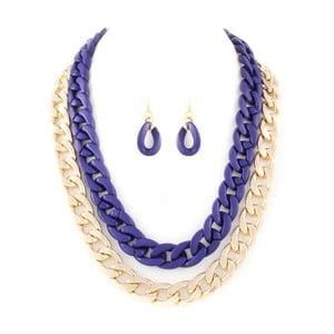 Set náhrdelník a náušnice Chloe Blue