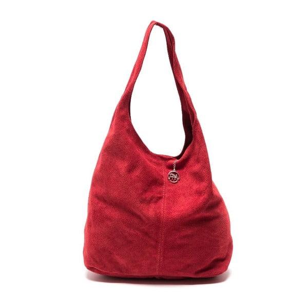 Červená kožená kabelka Roberta M  885 Rosso