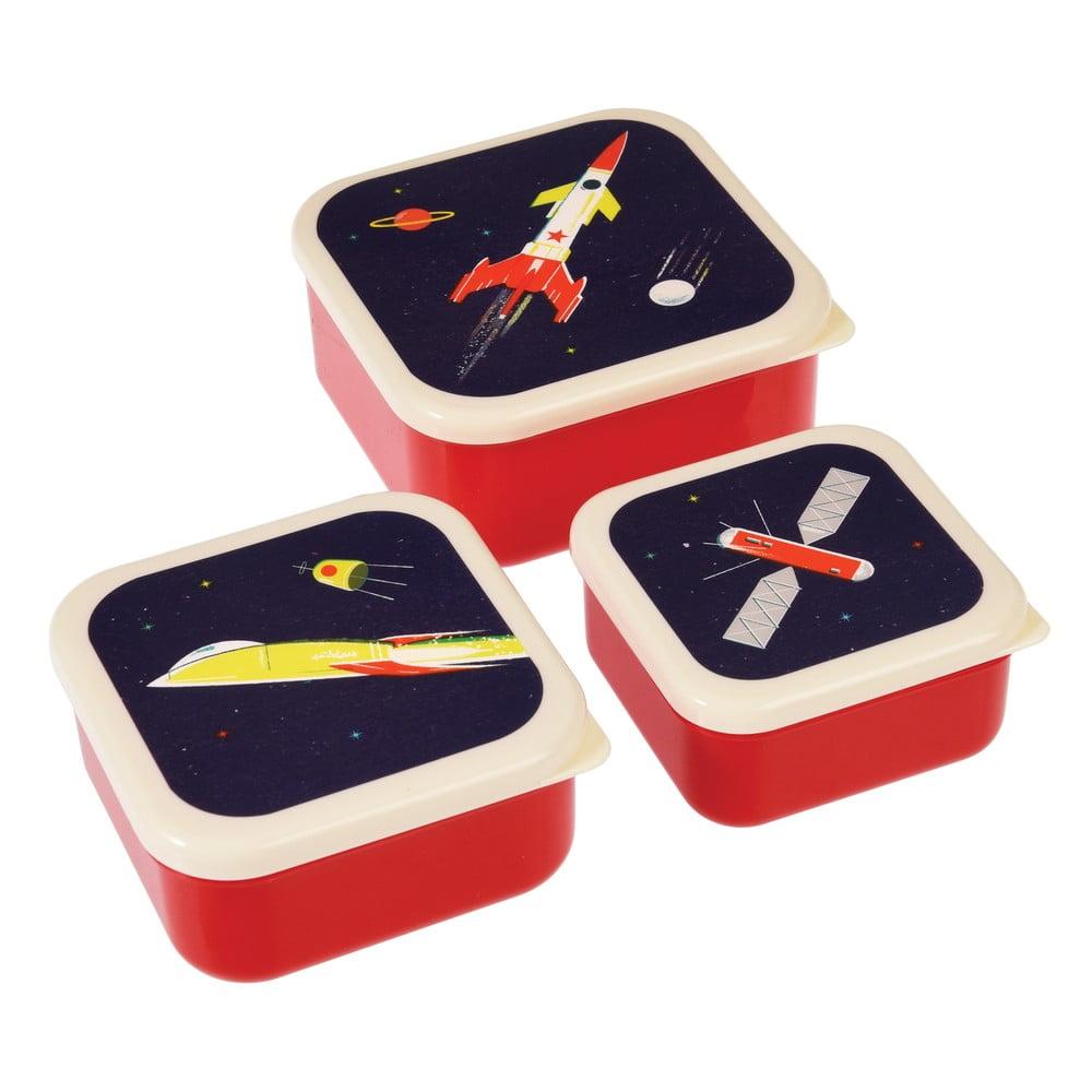Sada 3 svačinových boxů Rex London Space Age