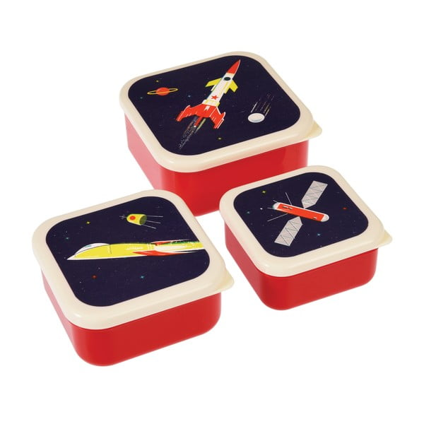 Set 3 cutii pentru gustări Rex London Space Age