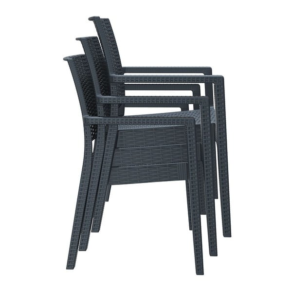 Židle Ibiza, tmavě šedá