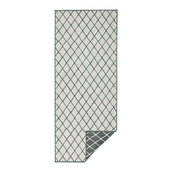 Covor adecvat pentru exterior Bougari Malaga, 80 x 250 cm, verde - crem