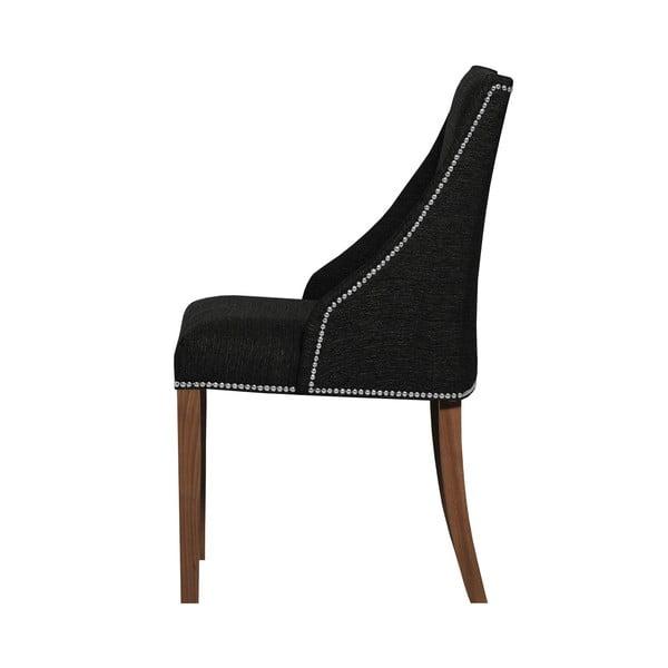 Černá židle s tmavě hnědými nohami z bukového dřeva Ted Lapidus Maison Patchouli