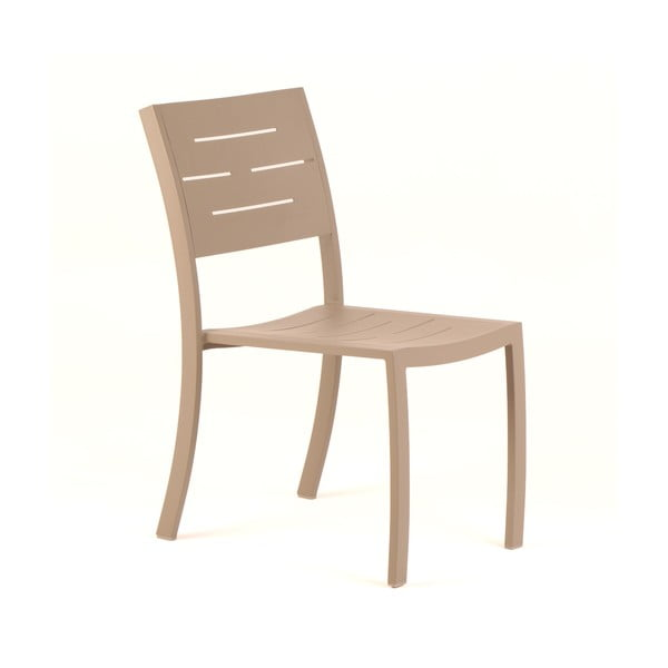 Sada 4 světle hnědých zahradních židlí Ezeis Typon