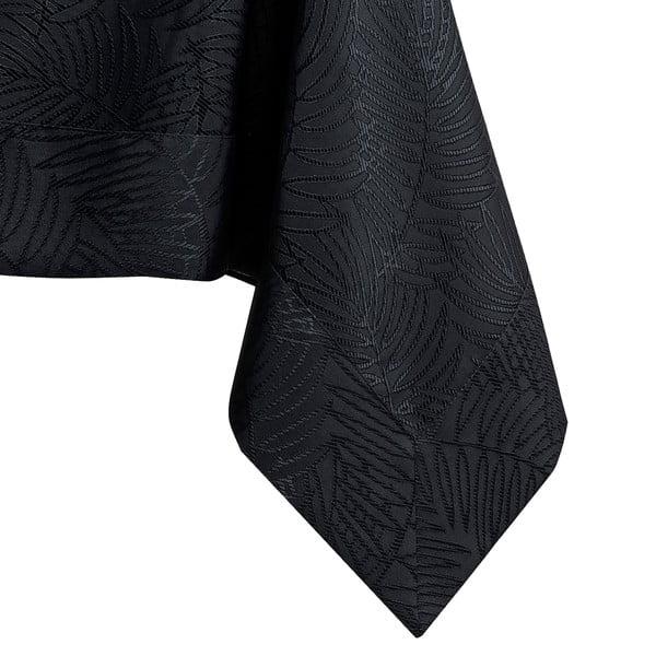 Czarny obrus AmeliaHome Gaia Black, 140x400 cm