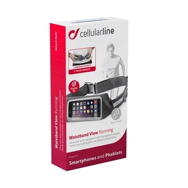 Sportovní pouzdro CellularLine WAISTBAND, černé