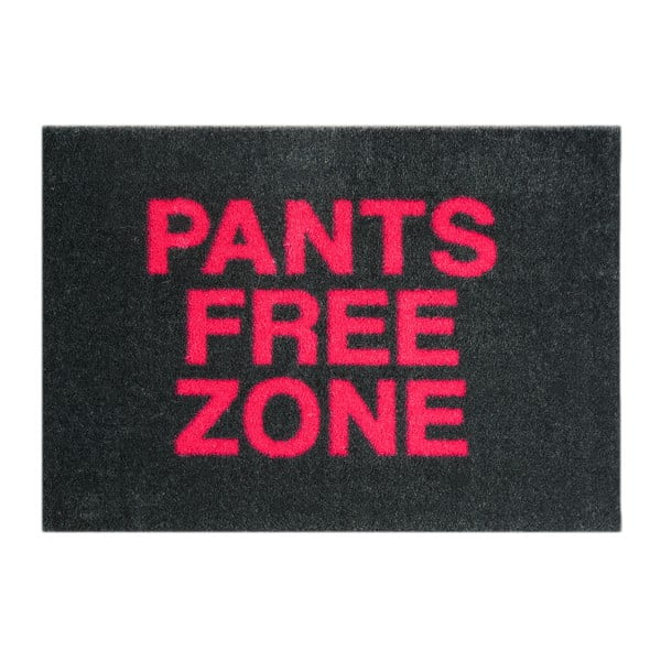 Černá rohožka Mint Rugs StateMat Pants Free Zone, 50 x 75 cm