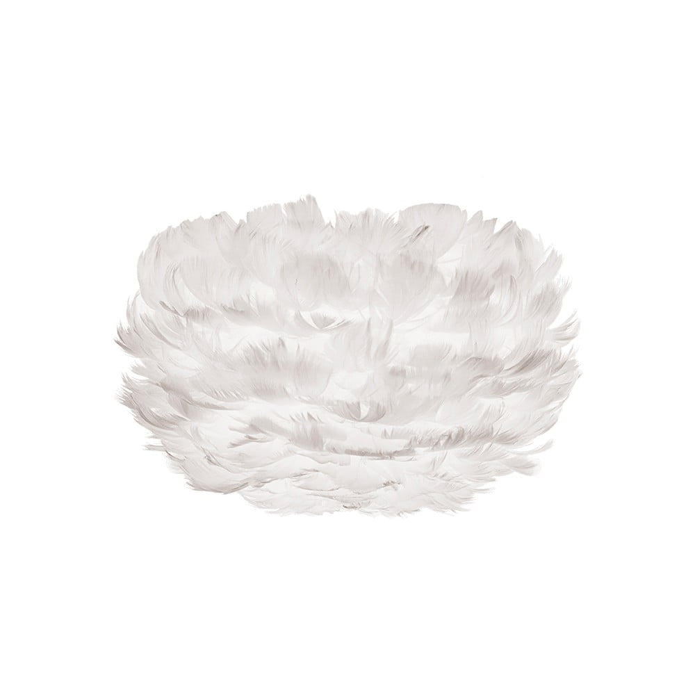Bílé stínidlo z husího peří VITA Copenhagen EOS, ⌀ 22 cm