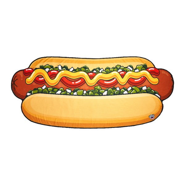 Pătură pentru plajă Big Mouth Inc. Hot Dog, 152x152cm