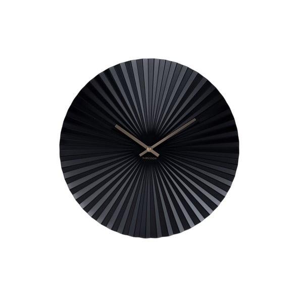 Hodiny v černé barvě Karlsson Sensu, ø40 cm