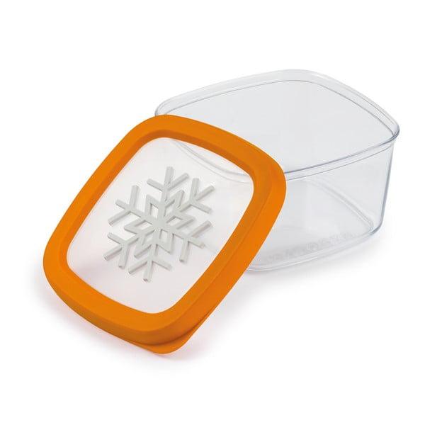 Oranžová dóza na potraviny Snips Snowflake, 1l