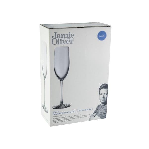 Sada 2 sklenic na sekt Jamie Oliver Waves, 250 ml