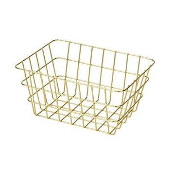 Coș metalic pentru depozitare Wenko Viana, auriu imagine