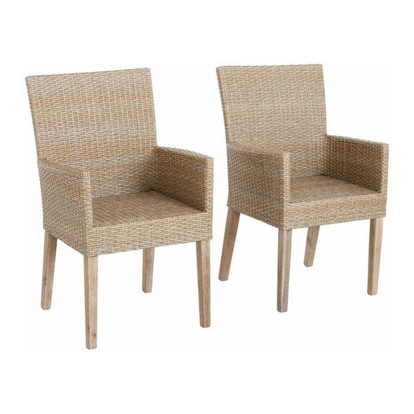 Sada 2 béžových jídelních židlí s područkami Støraa Safran